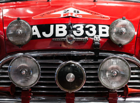 Timo Mäkinen's original Mini Cooper S is the star attraction of the Rally Museum. Photo: KKS
