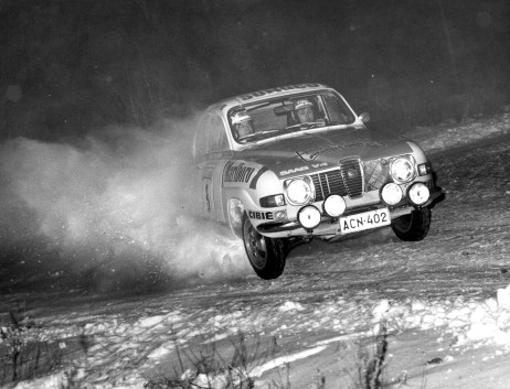 Simo Lampinen, patron of the Rally Museum, also drove his Saab in winter rallies.