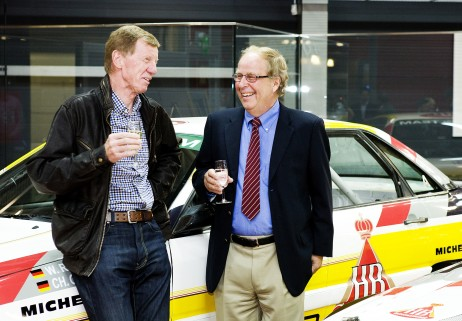 Walter Röhrl and Hannu Mikkola celebrated their induction into the Rally Hall of Fame in 2011.