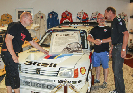 Juha Kankkunen was elected into the Rally Hall of Fame in 2015. The picture, signed by Mr Kankkunen, can be seen in the Rally Museum.