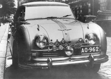 The Austin Atlantic that won the 1951 Jyväskylä Grand Prix. Photo: Scuderia Naftalin
