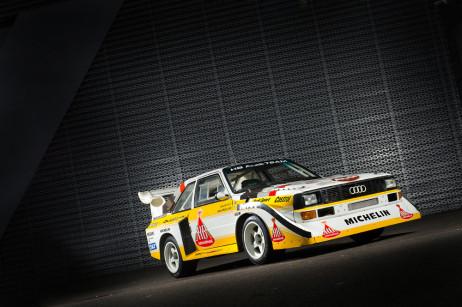 Hannu Mikkola's Audi Quattro S1, Group B, model year 1985. Photo: Marko Mäkinen