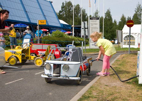 The Mobilia Automobile Village's Traffic Park is ideal for the little ones. Photo: KKS
